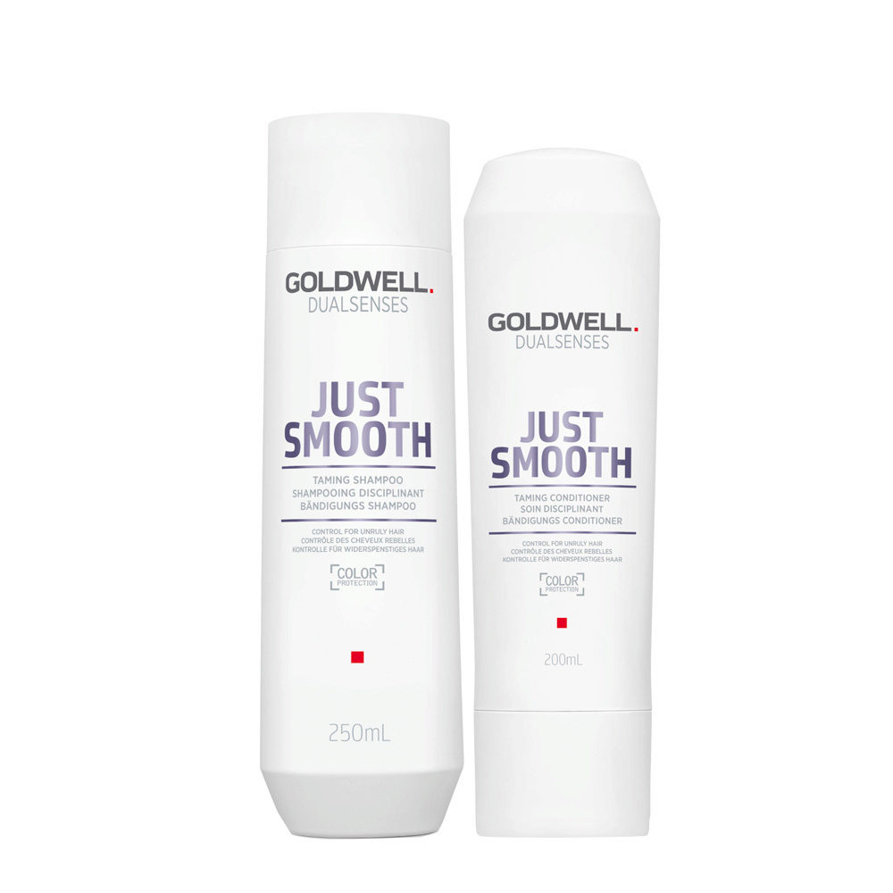 Goldwell Dualsenses Just Smooth Taming Shampoo 250ml and Conditioner 200ml - Antifrizz