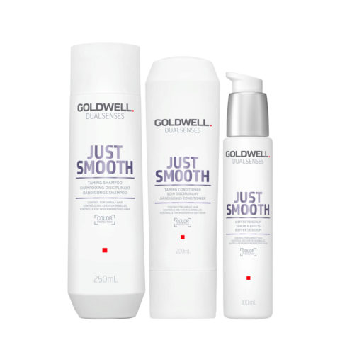 Goldwell Dualsenses Just Smooth Taming Shampoo 250ml Conditioner 200ml Serum 100ml