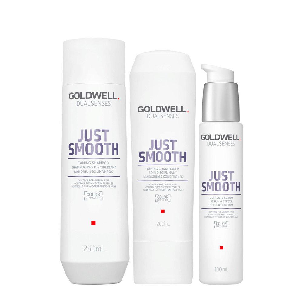 Goldwell Dualsenses Just Smooth Taming Shampoo 250ml Conditioner 200ml Serum 100ml