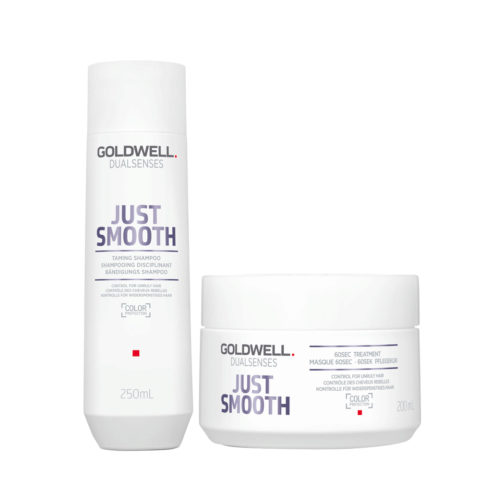 Goldwell Dualsenses Just Smooth Taming Shampoo 250ml and Mask 200ml - Antifrizz