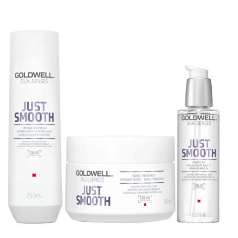 Goldwell Dualsenses Just Smooth Taming Shampoo 250ml Mask 200ml Oil 100ml