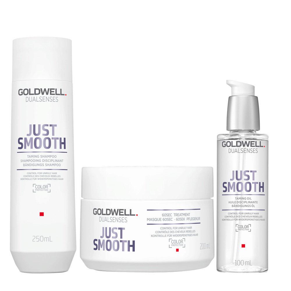 Goldwell Dualsenses Just Smooth Taming Shampoo 250ml Mask 200ml Oil 100ml