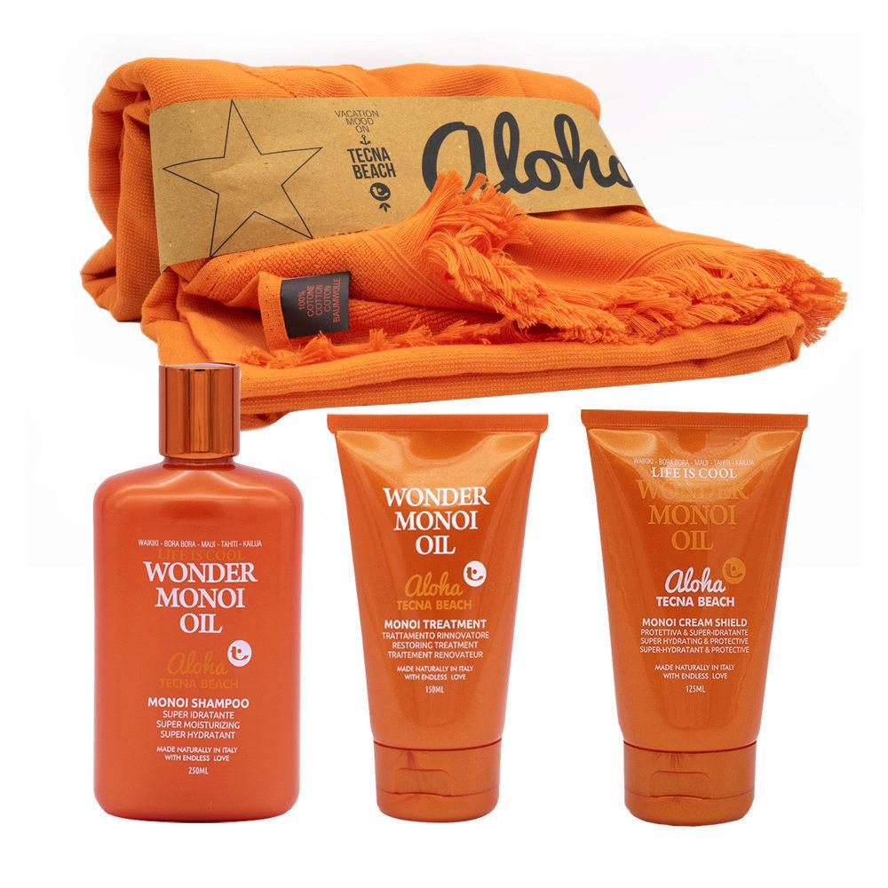 Tecna Beach Wonder Monoi kit Shampoo 250ml Mask 150ml Cream shield 125ml