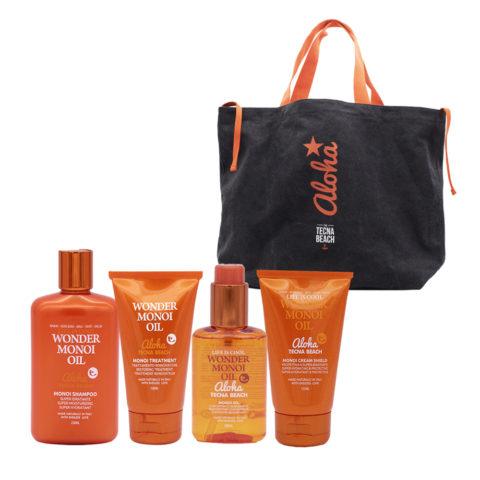 Tecna Beach Wonder kit Shampoo 250ml Mask 150ml Oil 100ml Cream 125ml Free Sea Bag