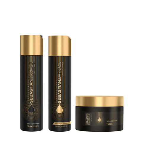 Sebastian Dark Oil Lightweight Hydrating Shampoo 250ml Conditioner 250ml Mask 150ml