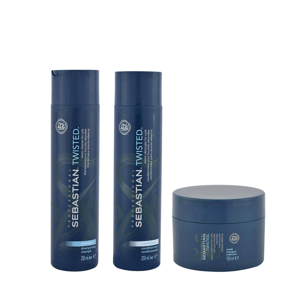Sebastian Twisted Shampoo 250ml Conditioner 250ml Mask 150ml Curly Hair