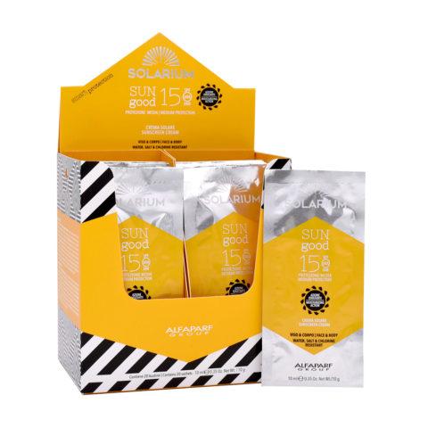 Solarium Sun Good Sunscreen Cream SPF15 Face and Body 20 sachets of 10ml