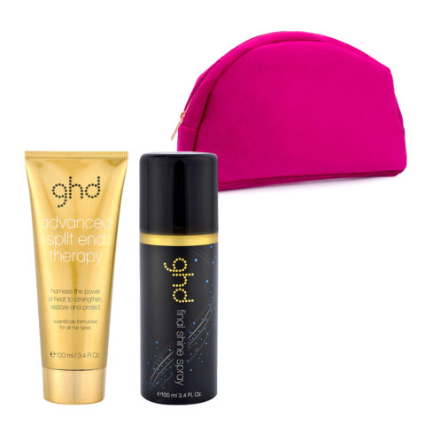 GHD Kit Split End Therapy 100ml Final Shine Spray 100ml and Pink Bag