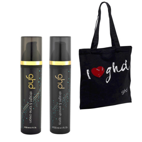 Ghd Kit Straight & Tame Cream 120ml Straight & Smooth Spray 120ml Bag