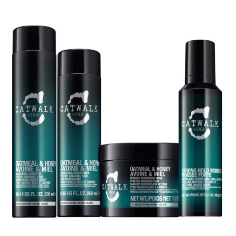 Tigi Catwalk Shampoo 300ml Conditioner 250ml Strong Hold Mousse 200ml Mask 200gr