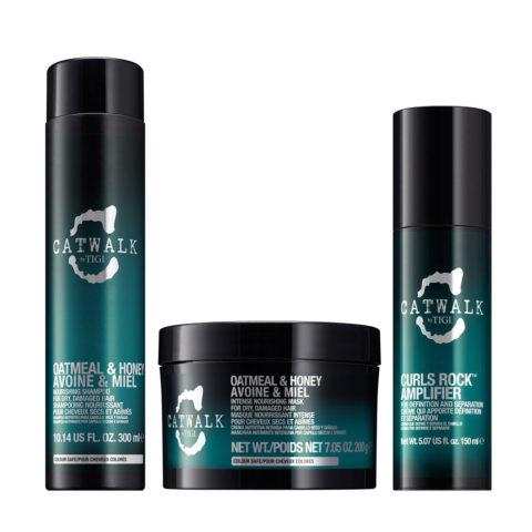 Tigi Catwalk Shampoo 300ml Mask 200gr Curls Rock Amplifier 150ml