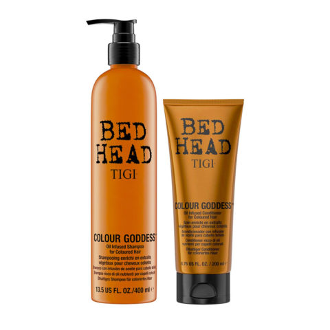 Tigi Bed Head Colour Goddess Oil infused Shampoo 400ml Conditioner 200ml for Coloured Hair