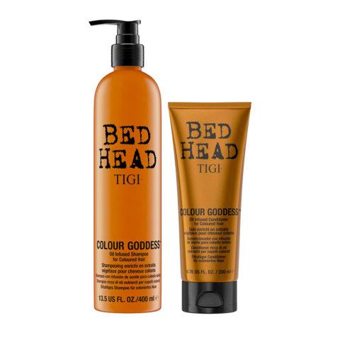 Tigi Bed Head Colour Goddess Oil infused Shampoo 400ml Conditioner 200ml for Coloured Hair