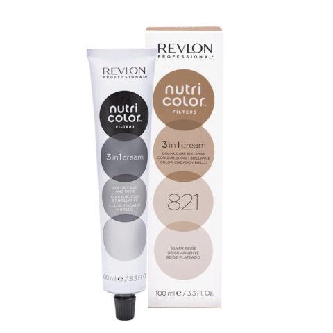 Revlon Nutri Color Creme 821 Silver Beige 100ml - color mask
