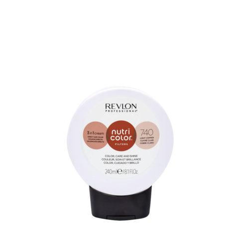 Revlon Nutri Color Creme 740 Light copper 240ml - color mask