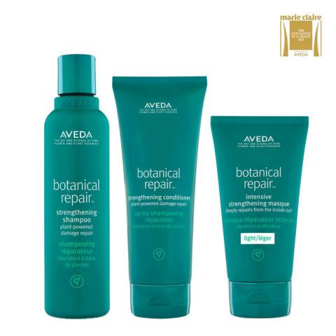 Aveda Botanical Repair Shampoo 200ml Conditioner 200ml Light Mask 150ml