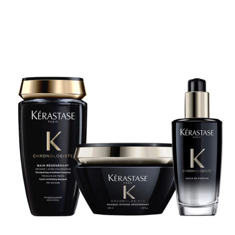 Kerastase Chronologiste Shampoo 250ml Mask 200ml Perfumed Hair Oil 100ml