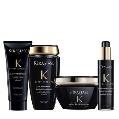 Kerastase Chronologiste Pre Shampoo 200ml Shampoo 250ml Mask 200ml Cream 150ml