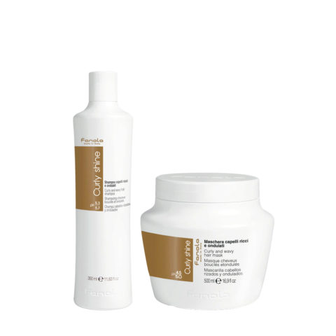 Fanola Curly Shampoo 350ml And Mask 500ml