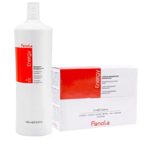 Fanola Antifall Shampoo 1000ml And Vials 12x10ml