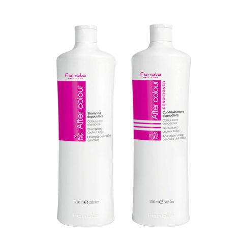 Fanola After Color Shampoo 1000ml And Conditioner 1000ml For Coloured Hair