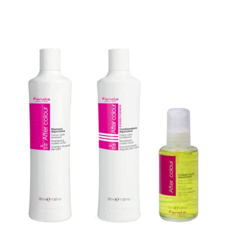 Fanola Colored Hair Shampoo 350ml Conditioner 350ml Liquid Crystals 100ml