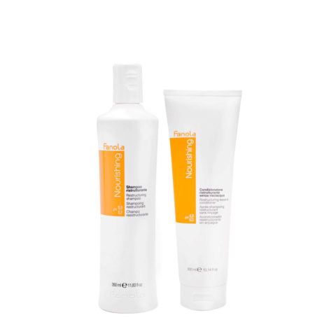 Fanola Nutri Care Shampoo 350ml And Conditioner 300ml For Damaged Hair
