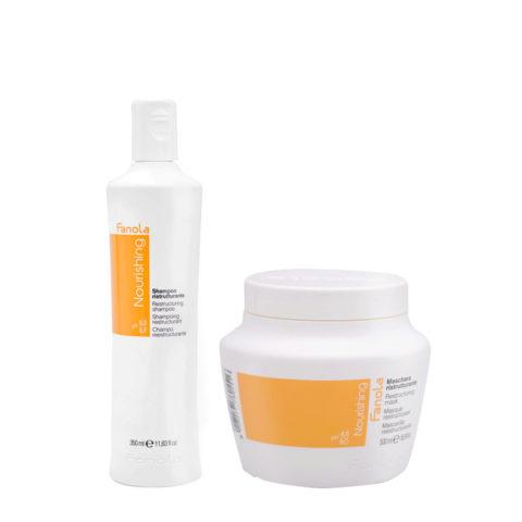 Fanola Nutri Care Shampoo 350ml And Mask 500ml For Damaged Hair