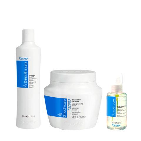 Fanola Smooth Care Shampoo 350ml Mask 500ml Smoothing Serum 100ml
