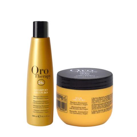 Fanola Oro Puro Shampoo 300ml and Mask 300ml