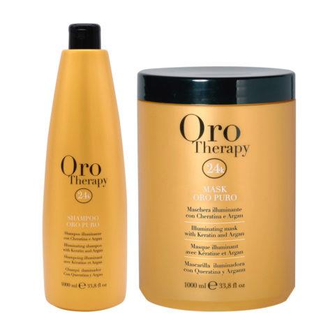 Fanola Oro Puro Shampoo 1000ml And Mask 1000ml