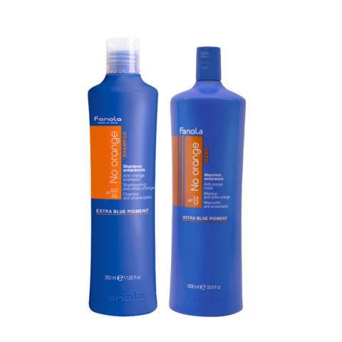 Fanola Antiorange Shampoo 1000ml And Conditioner 1000ml Brown Hair