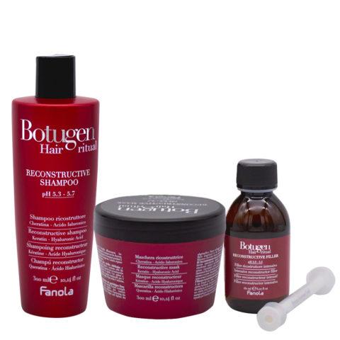 Fanola Botugen Shampoo 300ml Mask 300ml Serum 150ml Restructuring