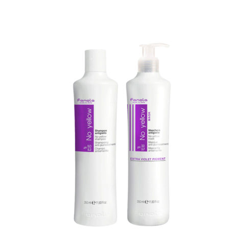 Fanola Shampoo 350ml And Mask 350ml Anti Yellow For Blond Hair