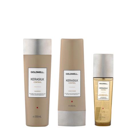 Kerasilk Control Antifrizz Shampoo 250ml Conditioner 200ml Oil 75ml