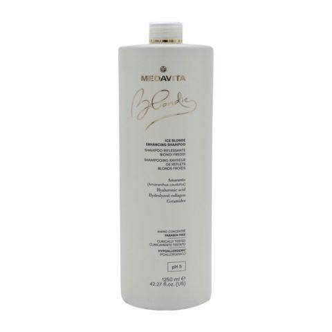 Medavita Blondie Ice Highlighting Shampoo for Cold Blondes 1250ml