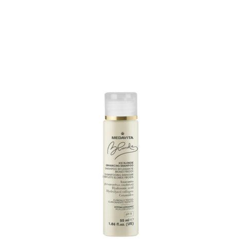 Medavita Blondie Ice Highlighting Shampoo for Cold Blondes 55ml