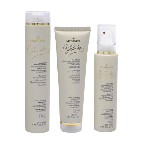 Medavita Blondie Shampoo 250ml Mask 150ml Moisturizing Cream Fine Hair 150ml
