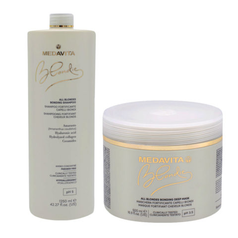 Medavita Blondie Shampoo 1250ml And Mask 500 For All Blond Hair