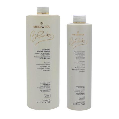 Medavita Blondie Shampoo 1250ml And Conditioner 500 For All Blond Hair