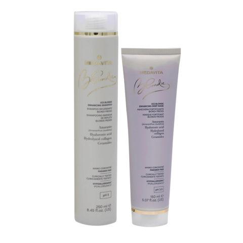 Medavita Blondie Ice Shampoo 250ml Mask 150ml For Blond Hair