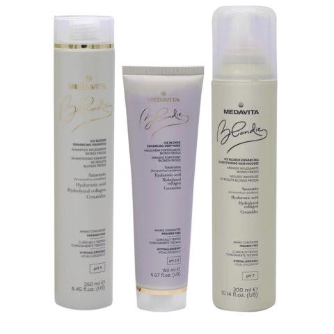 Medavita Blondie Ice Shampoo 250ml Mask 150ml Mousse 300ml