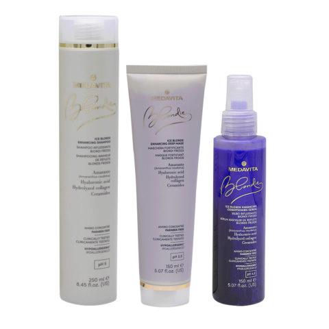 Medavita Blondie Ice Shampoo 250ml Mask 150ml Serum 150ml