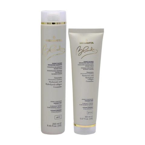 Medavita Blondie Sunset Shampoo 250ml Mask 150ml Blond Hair