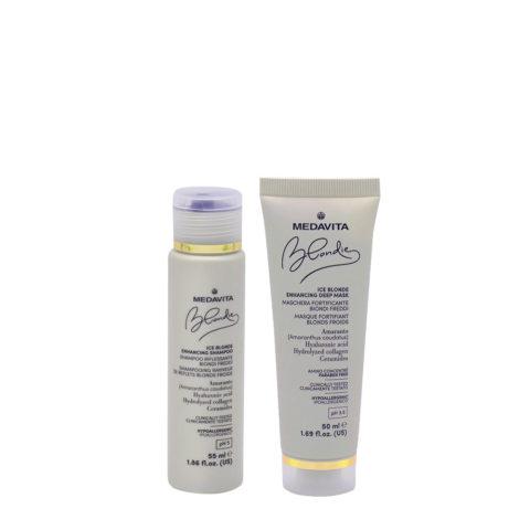Medavita Blondie Ice Shampoo 55ml And Mask 50ml Cool Blondes