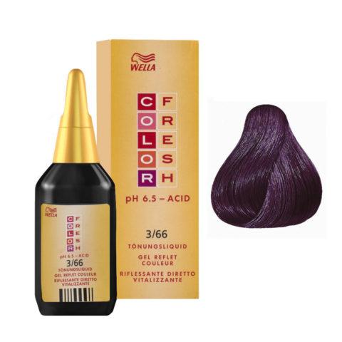 3/66 Dark brown intense violet Wella Color fresh 75ml