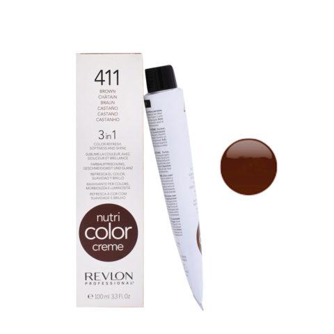 Revlon Nutri Color Creme 411 brown 100ml - color mask