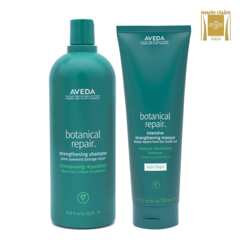 Aveda Botanical Repair Strengthen Shampoo 1000ml And Light Mask 350ml