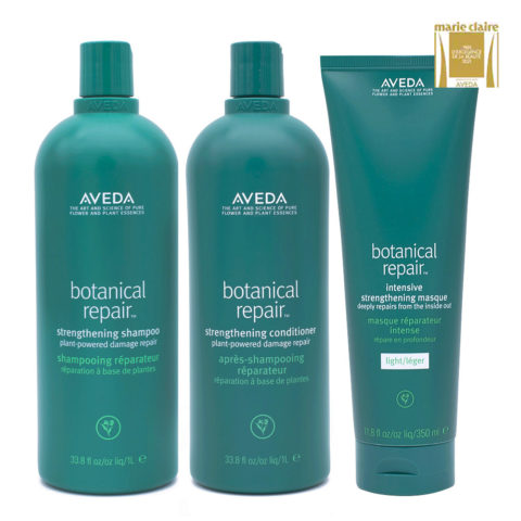 Aveda Botanical Repair Shampoo 1000ml Conditioner 1000ml Light Mask 350ml