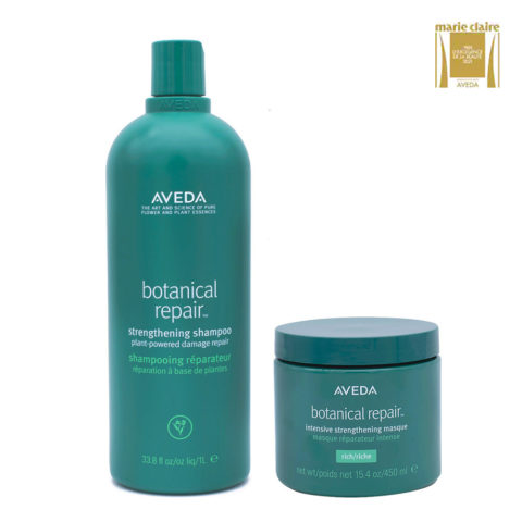 Aveda Botanical Repair Strengthen Shampoo 1000ml and Intensive Mask 450ml